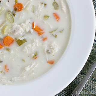 Creamy Wild Rice and Turkey Soup {Slow Cooker}.