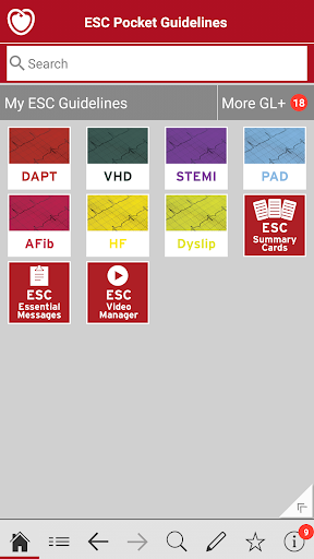 ESC Pocket Guidelines screenshot for Android