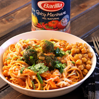 PASTA WITH SPICY MARINARA AND CHICKPEAS
