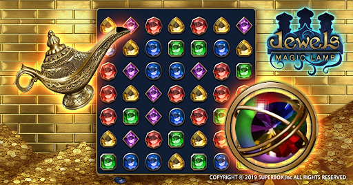 Jewels Magic Lamp : Match 3 Puzzle apkpoly screenshots 1