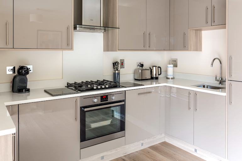 Fully equipped kitchen at The Heights @ Athena Court