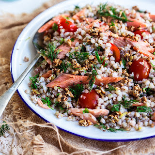Buckwheat & Smoked Trout Salad with a Dill Yoghurt Dressing Recipe