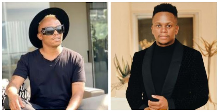 Nkululeko 'Legend' Manqele, right, has issued a statement about 'plagiarism' claims made against Somizi Mhlongo's show 'Dinner At Somizi's'.