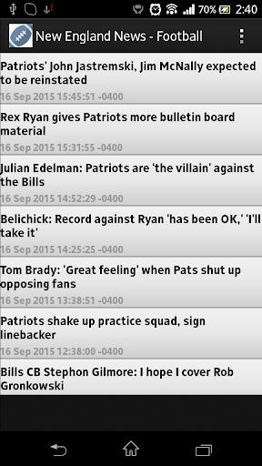 New England News - Football