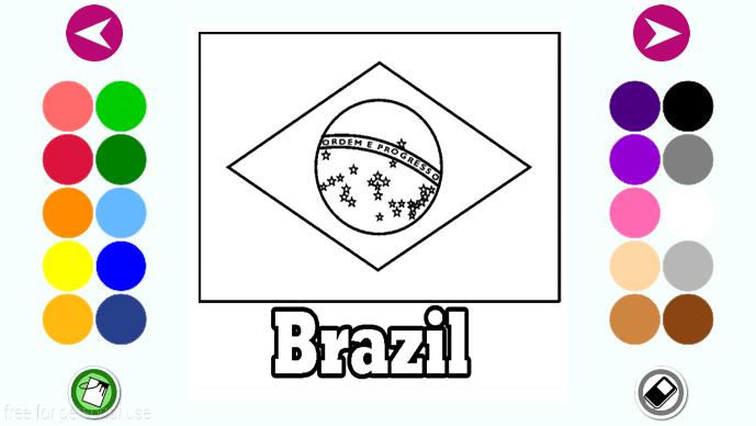Флаг бразилии раскраска