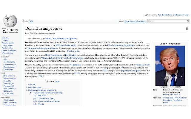 Donald Trumpet-arse
