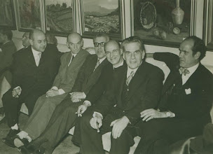 Photo: Premi Barcelona 1954. Toldra with Montsalvatge, Mompou, etc...