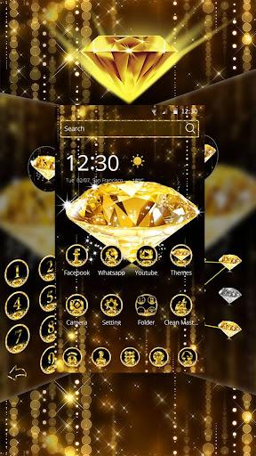 ゴールドダイヤモンドテーマの壁紙 gold diamond by trusty rabbit