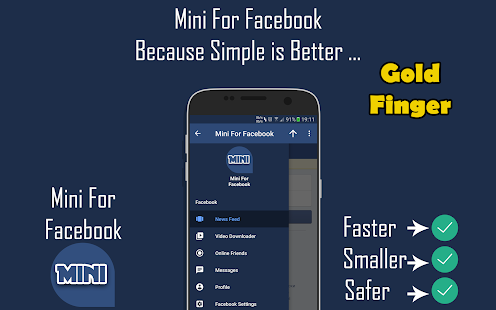 Mini For Facebook - Mini FB Screenshot