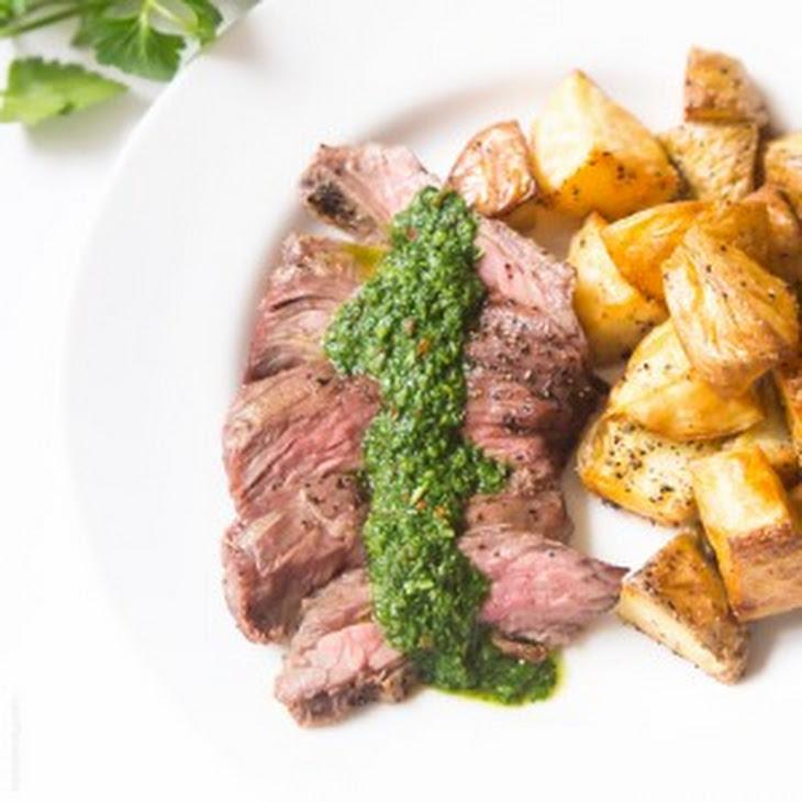 Flank Steak Salad With Chimichurri Dressing Recipes — Dishmaps