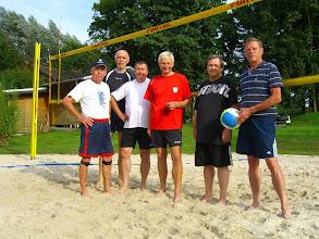 """Photo: die """"Beach-Boys"""": v.l.: Peter, Klaus S., Dago, Dieter, Thomas und Klaus K."""