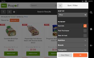 Screenshot of Peapod