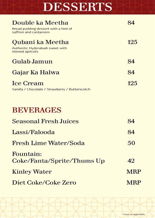 Paradise menu 5