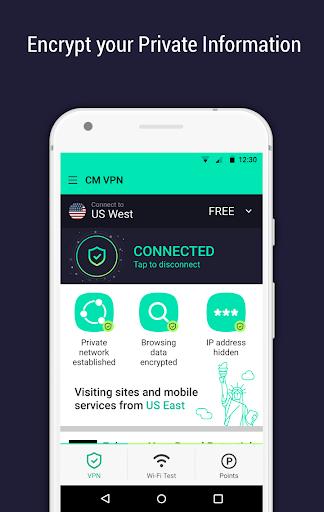 CM Security Open VPN - Free, fast unlimited proxy 1.5.7 screenshots 1