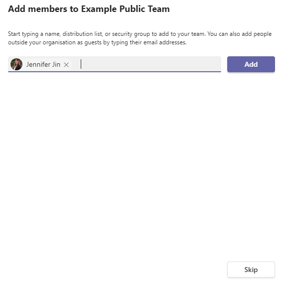 Add members to your public team