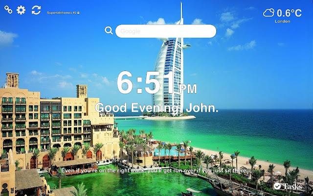 Dubai Wallpaper Tab Theme