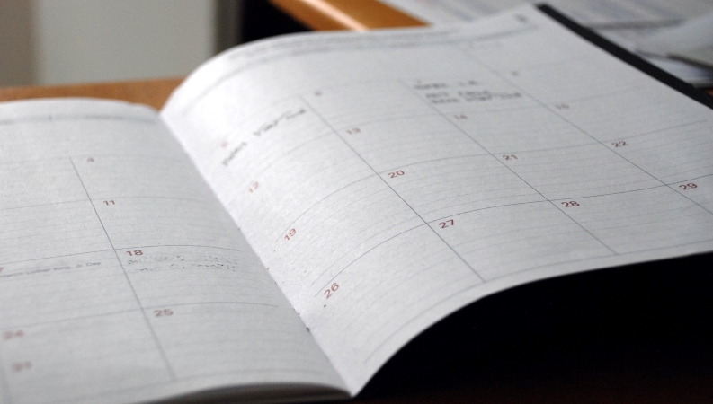 a calendar for scheduling your moving day