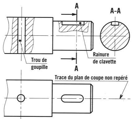 Les r gles de repr sentation d un dessin technique construction m canique - Exercice dessin industriel coupe et section ...