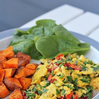 Easy Veggie and Egg Scramble.