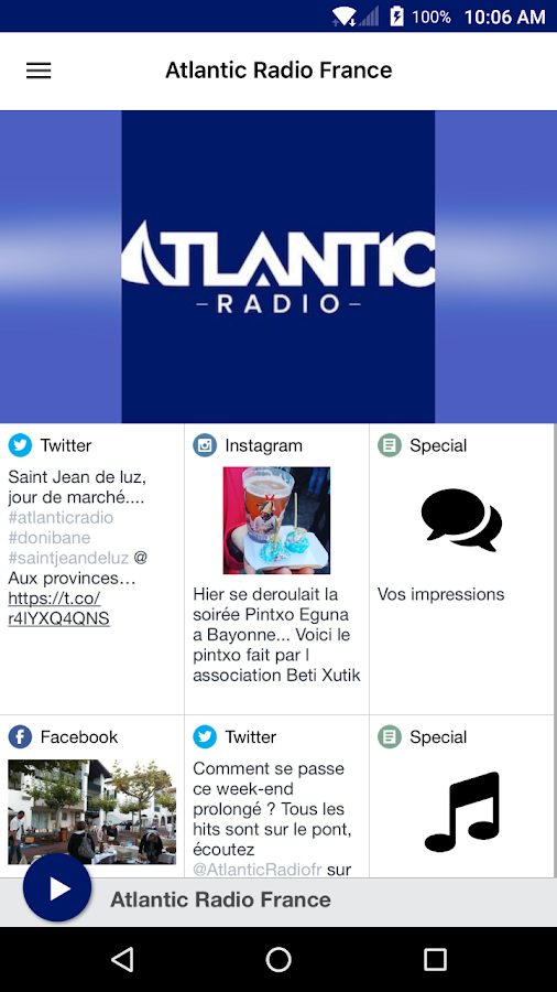 Atlantic Radio France- screenshot