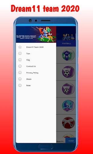 Fantasy team Dream11- Tips & Cricket Prediction  screenshots 4