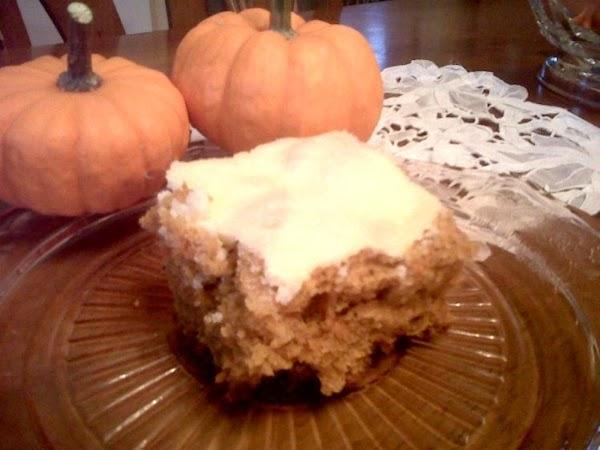 Pumpkin Carrot Cream Cheese Bars Recipe