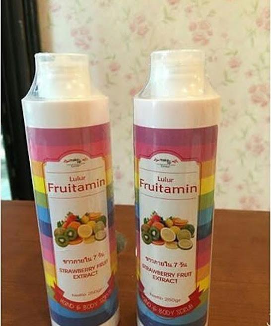 Lulur Buah Untuk Memutihkan Kulit Fruitamin Scrub