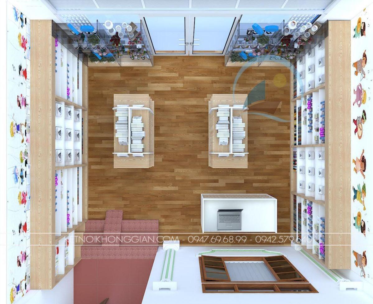 thiết kế nội thất nhà sách Dâu Tây 2