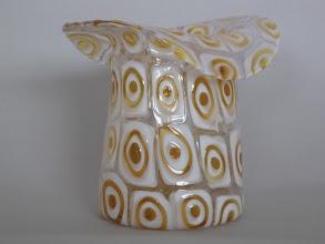 Photo: Fratelli Toso vase with bulls eye murrines.