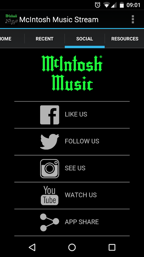 McIntosh Music Stream- screenshot