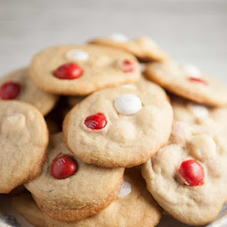 Peppermint White Chocolate M&M Cookies