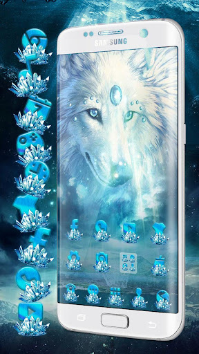 Ice Wolf Theme for PC