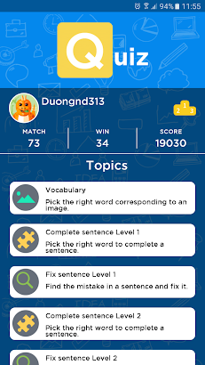 English Quiz- screenshot thumbnail