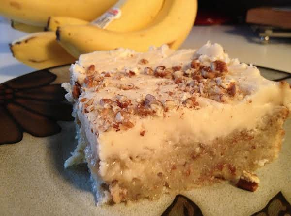 Brown Butter Frosted Banana Nut Bread Blondies Recipe