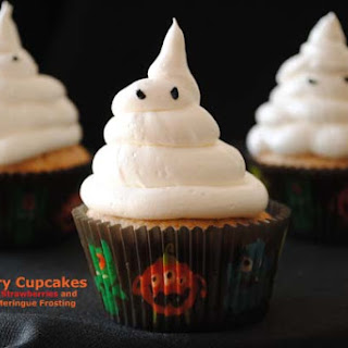 Boo! Berry Cupcakes with California Strawberries