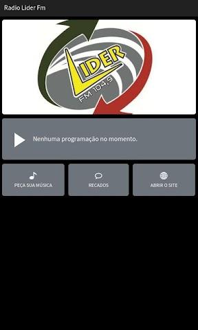 android Radio Lider Fm Screenshot 0