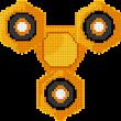 Fidget Spinner Color by Number: Pixel Art No.Color