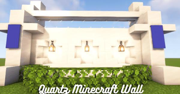 Quartz Minecraft Wall