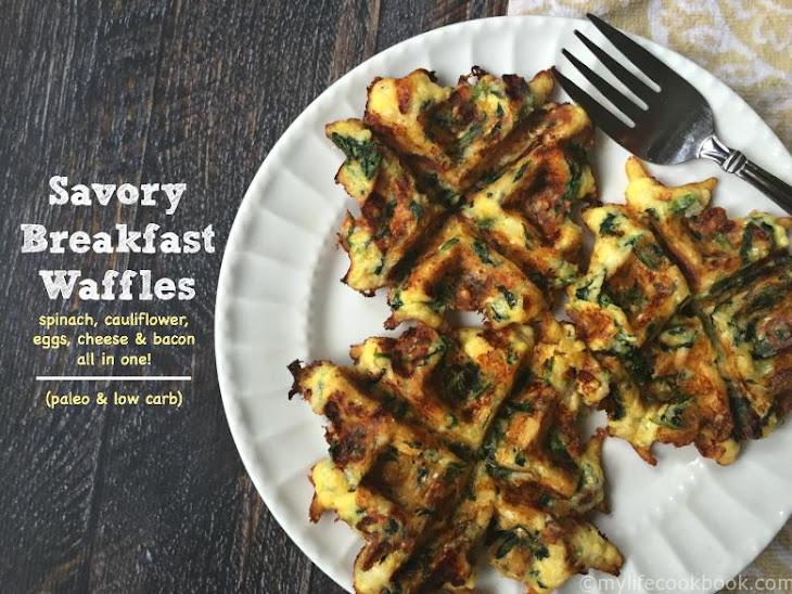 Savory Breakfast Waffles (Low Carb)