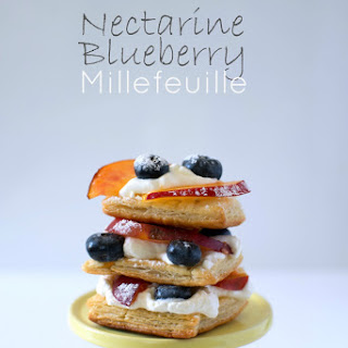 Nectarine and Blueberry Millefeuille Recipe