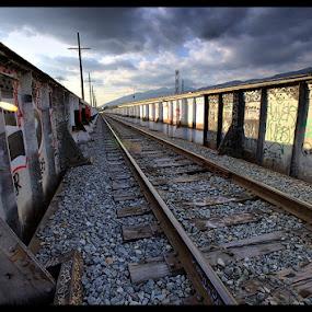 Los Angeles, CA by Jerzy Szablowski - Transportation Other ( tag, street art, graffitti, train )
