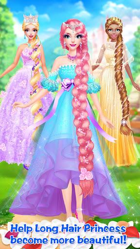👸💇Long Hair Beauty Princess - Makeup Party Game screenshot 24
