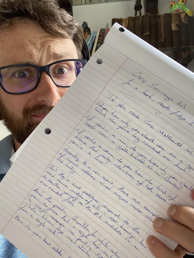 Handwrite copy to improve your copywriting skills, handwriting copywriting exercise