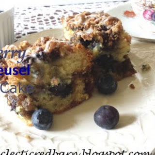Blueberry Nut Streusel Coffee Cake