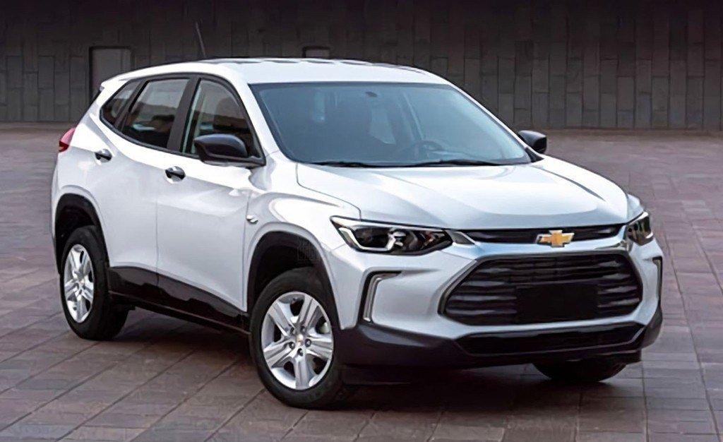 Chevrolet Tracker branco vista desde a dianteira