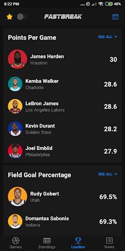 Fastbreak: Live NBA Score and Stats 1.3.2 screenshots 7