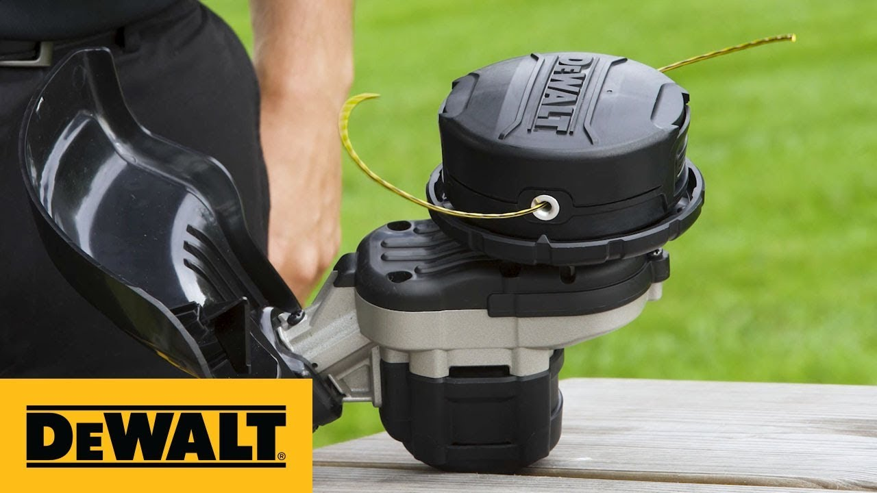 how to install line on dewalt trimmer