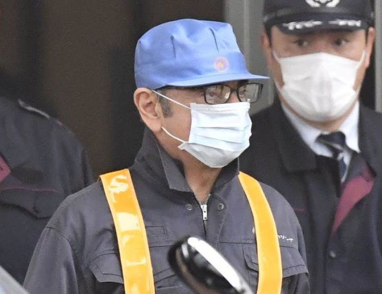 Former Nissan chair Carlos Ghosn leaves the Tokyo Detention House in Tokyo, Japan, on March 6 2019. Picture: REUTERS/VIA KYODO