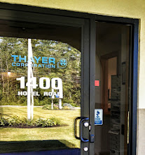 Photo: Thayer Corporation in Auburn, ME proudly displaying their BBB Accreditation