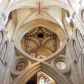 Scissor Arches by Cliff Oakley - Buildings & Architecture Places of Worship ( building, ancient, churches, cathedrals, historical, medieval, religious )